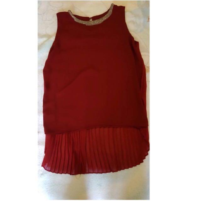 九成新,韓衣,適合喜宴穿,前短後長,可遮臀部。
