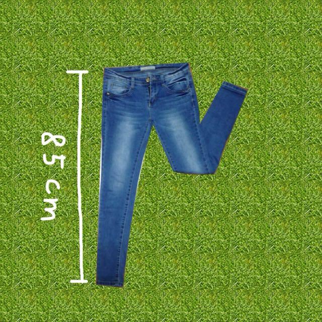 刷白小腳牛仔褲