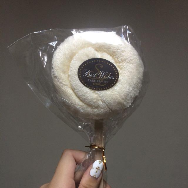 棒棒糖造型柔軟毛巾 免運費