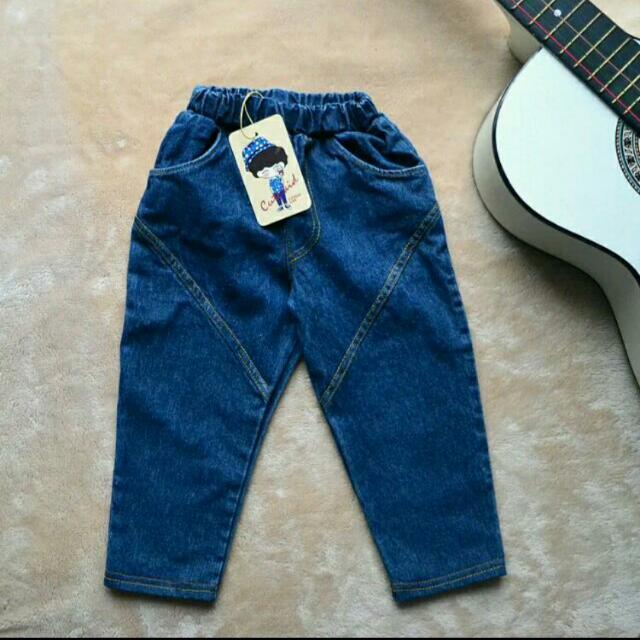 全新 兒童 韓版牛仔長褲