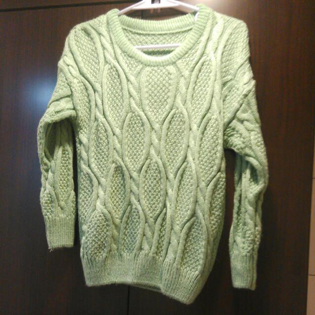 氣質保暖綠色針織衫 (厚款)
