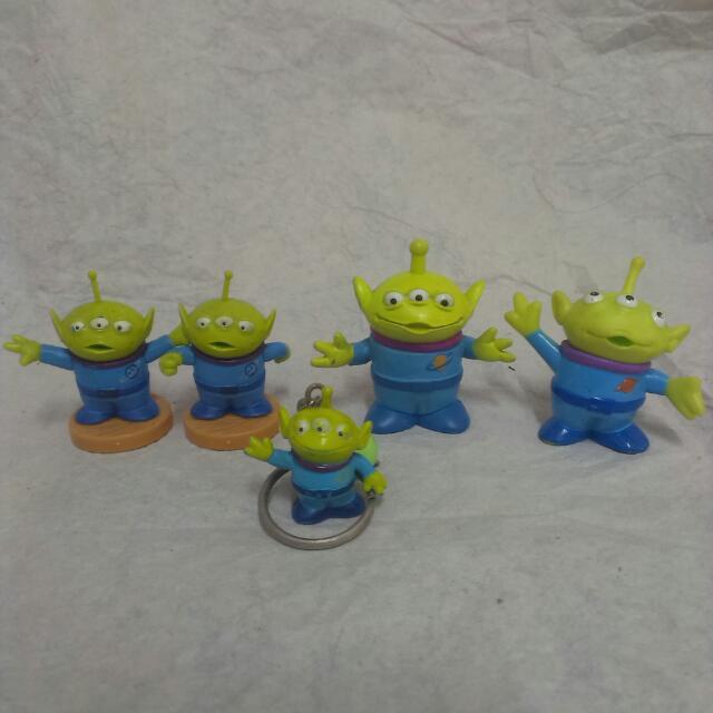 絕版 迪士尼 Disney 皮克斯 Pixar 玩具總動員 Toy Story 三眼怪 綠綠軍團 公仔 扭蛋