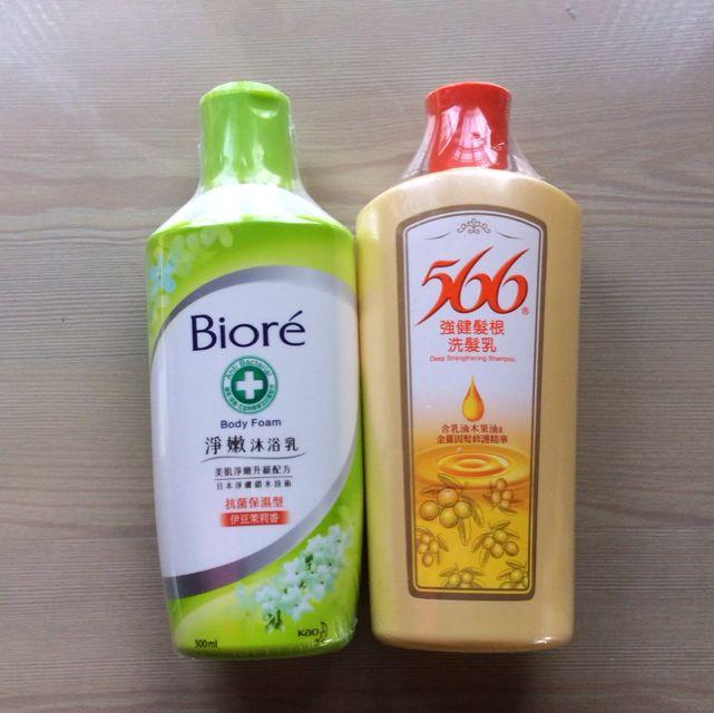 Biore淨嫩沐浴乳/566強健髮根洗髮乳
