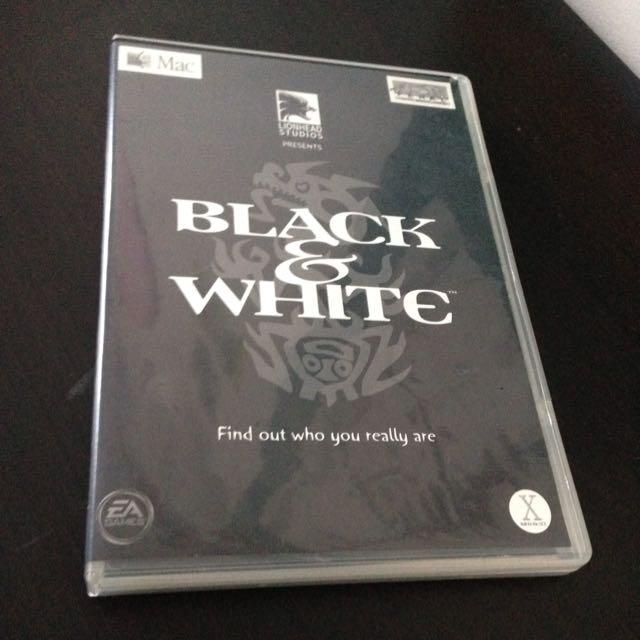 Black & White Computer Game Mac