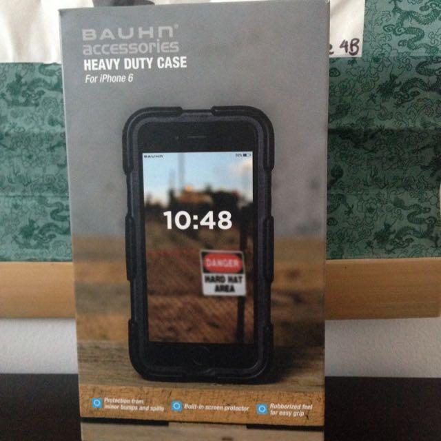 Brand New Bauhn Heavy Duty Case Black iPhone 6