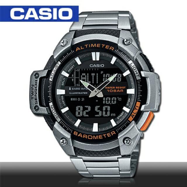 【CASIO 卡西歐】運動男錶(SGW-450HD)