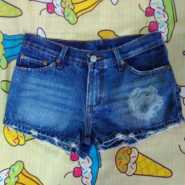 Denim Shorts In Dark Wash