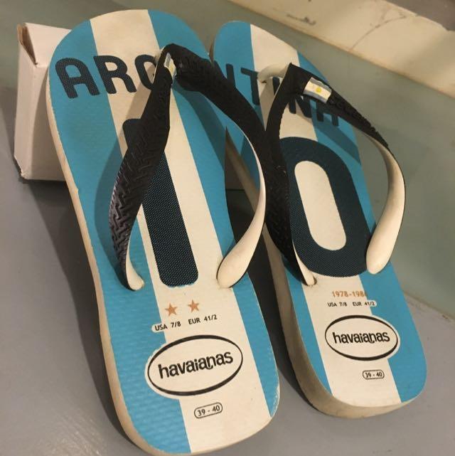 Havaianas 2010 阿根廷 足球限定 二手