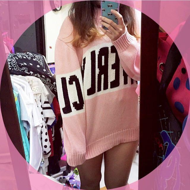 JOYRICH FW2014 毛衣 M號 粉紅色 寬鬆OVERSIZE
