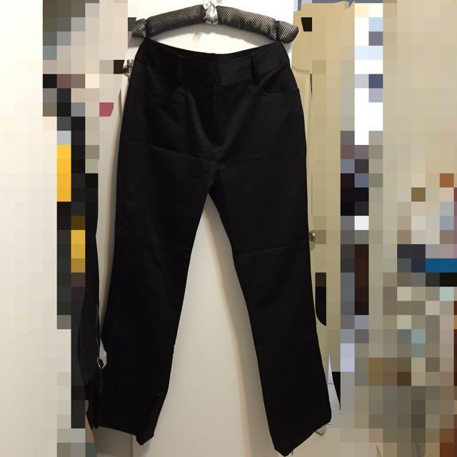 Kuda上班族OL套裝 黑色長褲