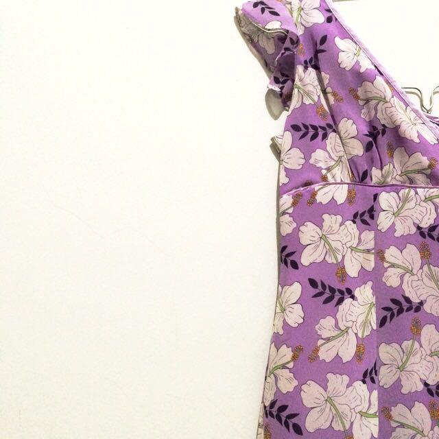 ESPRIT Lavender Floral Dress.