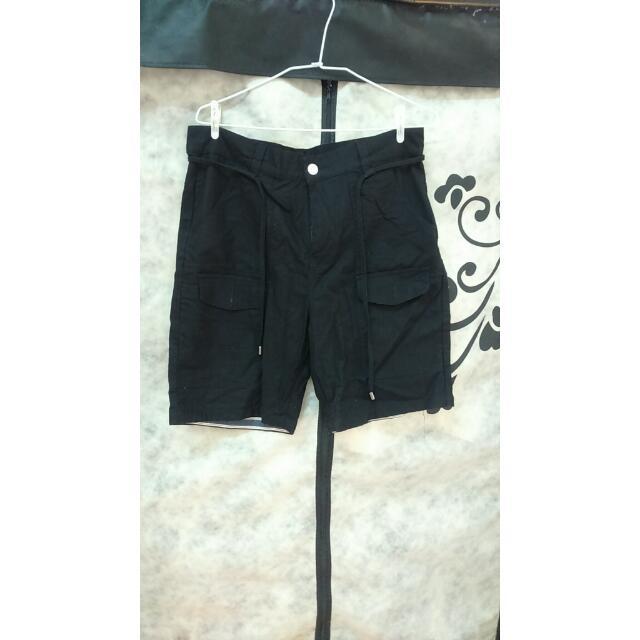 Life8 M號 休閒短褲 黑色