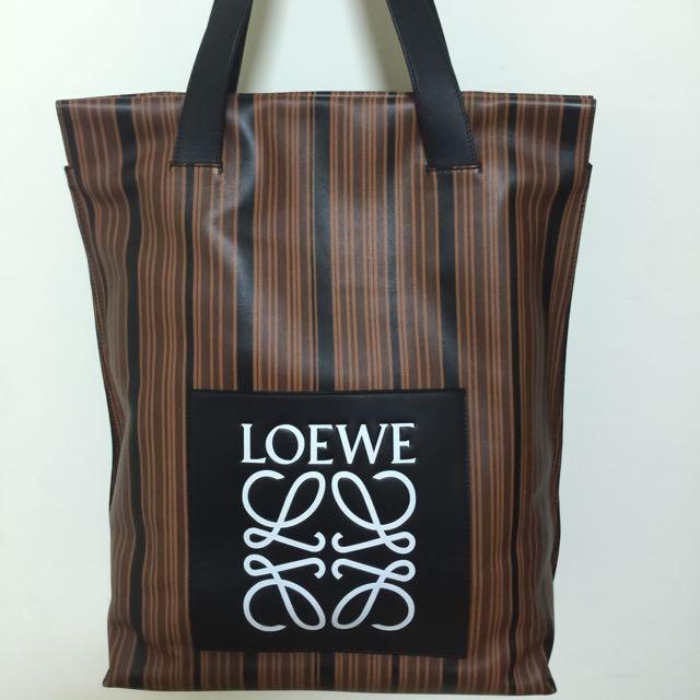 Loewe側包(咖啡線條)9.9新