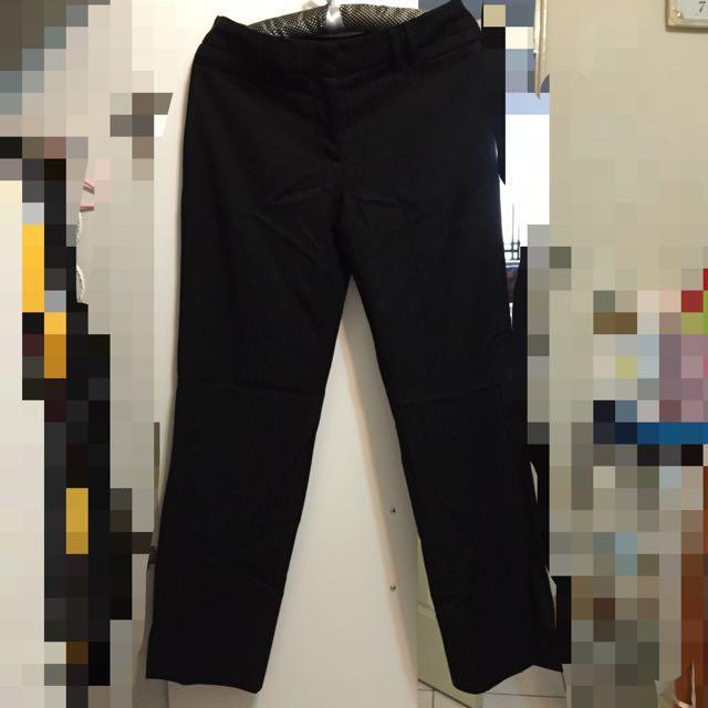 Net上班族OL套裝 黑色條紋長褲 西裝褲