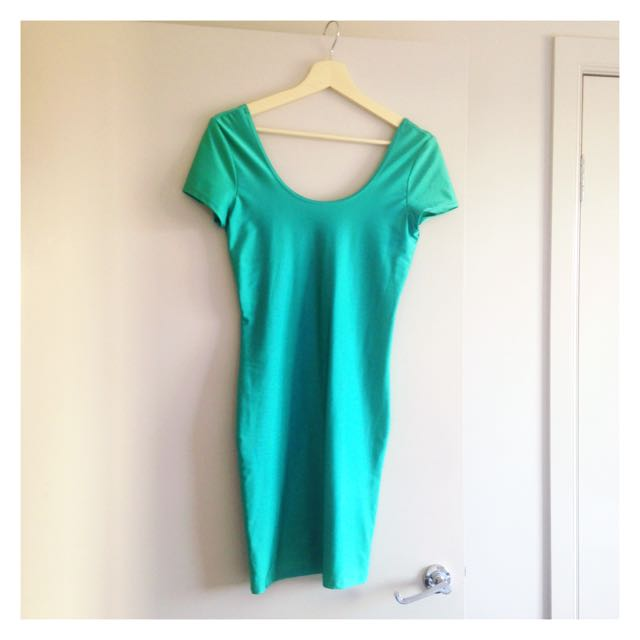 River Island Shimmer Turquoise Dress