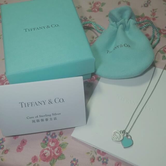 降價 Tiffany & Co 經典款 雙色雙心項鏈 頸鏈