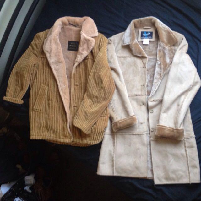 Windbreaker Corduroy Wool Jacket, Virgo Rain Wear Fur Coat