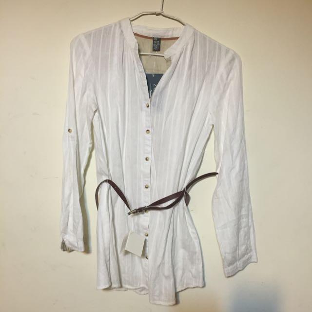 白色純棉Zara襯衫(女童)