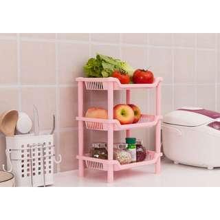浴室廚房三層置物架 長方形角落架