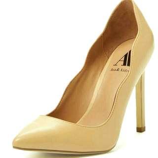 【美國設計師好走真皮高跟鞋- Ava Aiden】全新♡40號♡全牛皮 裸色 大尺碼 女鞋