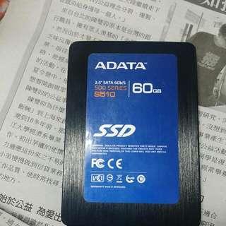 ADATA 60G  SSD   6GB/S 二手正常固態硬碟