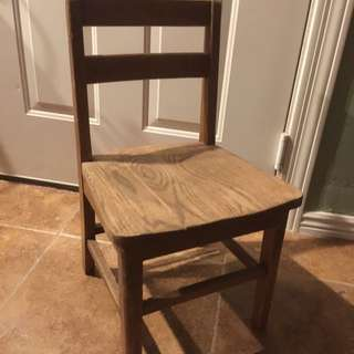 4 Antique Wood Child Chairs