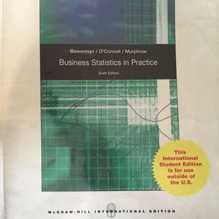 McGraw hill: business Statistics In Practice (sixth Edition)