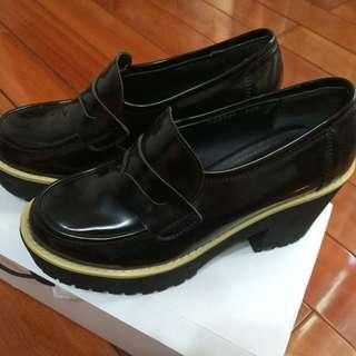 厚底高跟鞋 黑色/24.5號