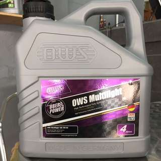 OWS Germany Multilight High Performance 5w40 Fully Synthetic Formulation Engine Oil