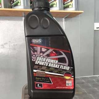 OWS Germany Uber Power Sports Brake Fluid,Fully Synthetic High-Performance Brake Fluid With Elevated Dry Boiling Point