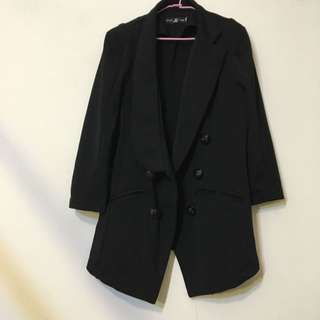 二手 七分袖西裝黑外套