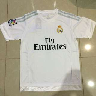 White Real Madrid #7 Ronaldo 2016 MENS Jerseys & Shorts Men's Set Football Sportswear