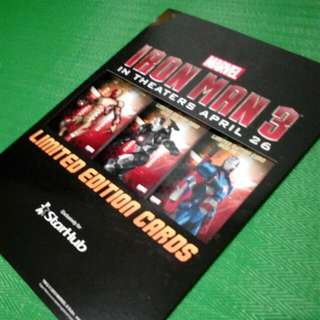 Ironman 3 Limited Edition Cards