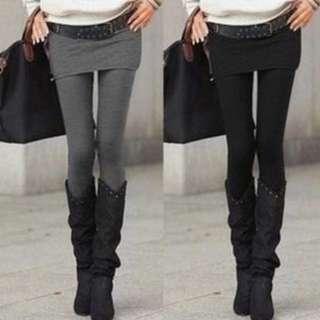 Skirt Leggings In Black