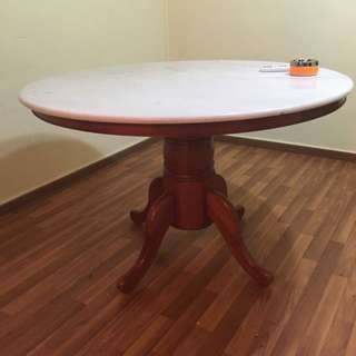 Round Marble Top Table (no Chairs)