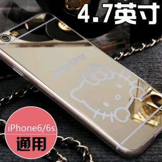 iphone鏡面卡通軟殼