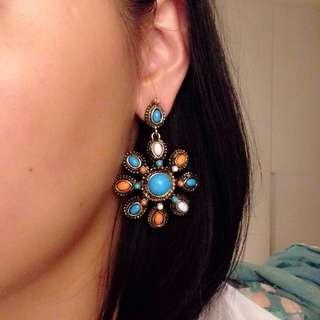 8成新 民族風耳環