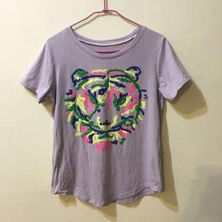 紫色老虎造型上衣