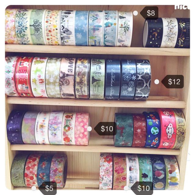 [紙膠帶分裝]最低5元起 可混搭 日本和紙膠帶 櫻花 京都 巴黎鐵塔 馬戲團 聖誕 郵票 雪花 迪士尼 小王子 花 草 星空 蕾絲