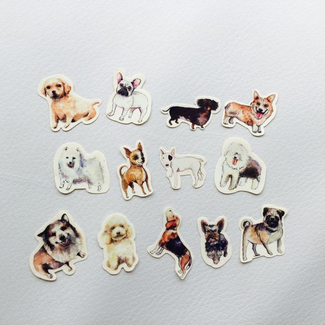 狗狗貼紙  13入