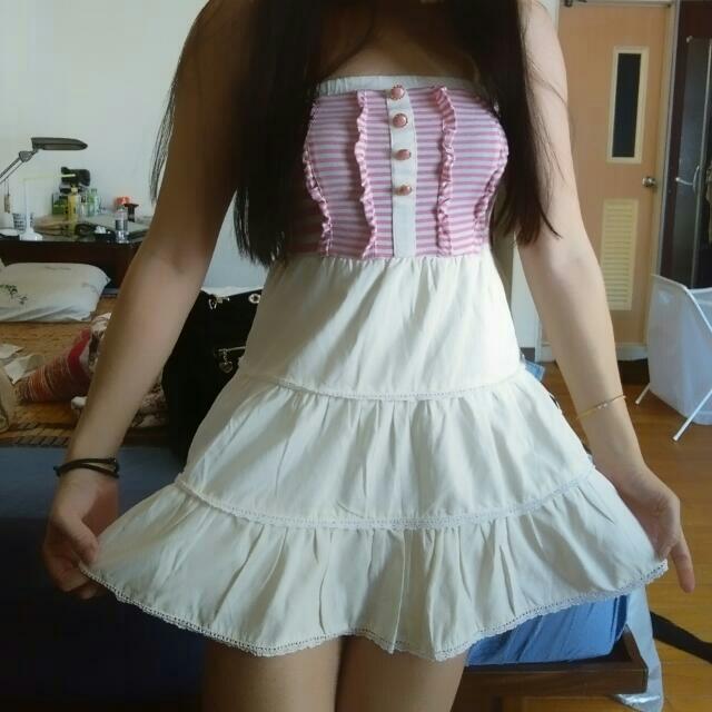 全新平口洋裝