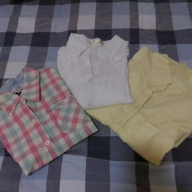 各種材質的襯衫們