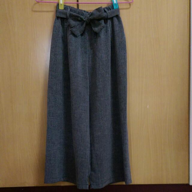 (含運)灰色寬褲