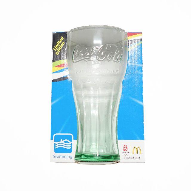 可口可樂玻璃杯 2008 奧運紀念杯 游泳