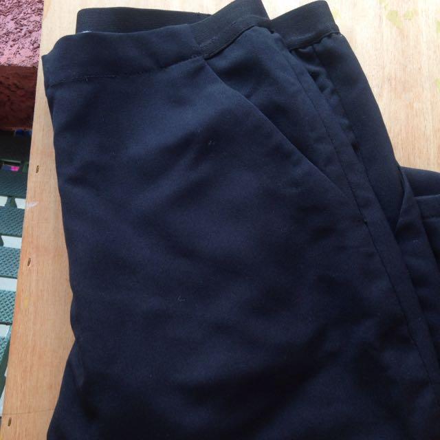 全新 Starkiki素色寬鬆黑褲