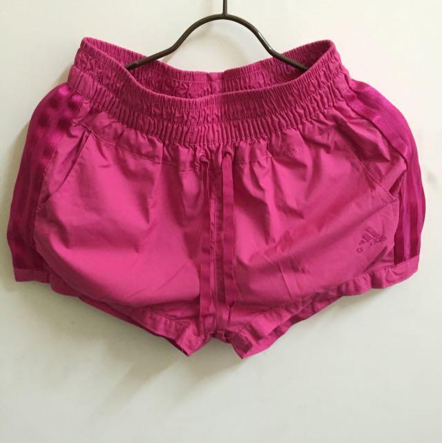 (降⬇️)《二手》ADIDAS 桃紅色運動短褲 M
