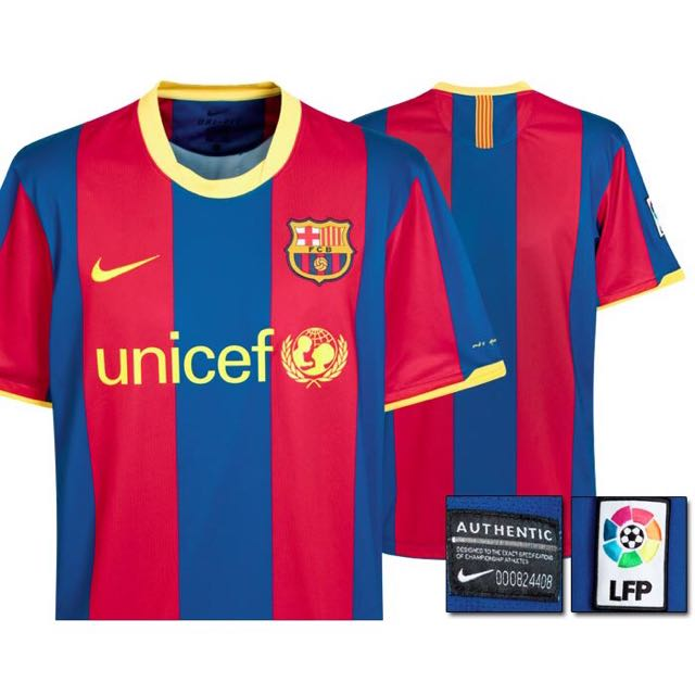 7e0fa20cd Authentic Nike FC Barcelona Home Kit SS 2010-11 (Reserved)