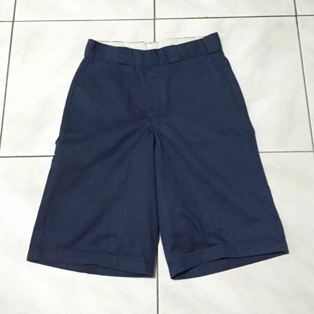 Dickies 深藍休閒寬短褲