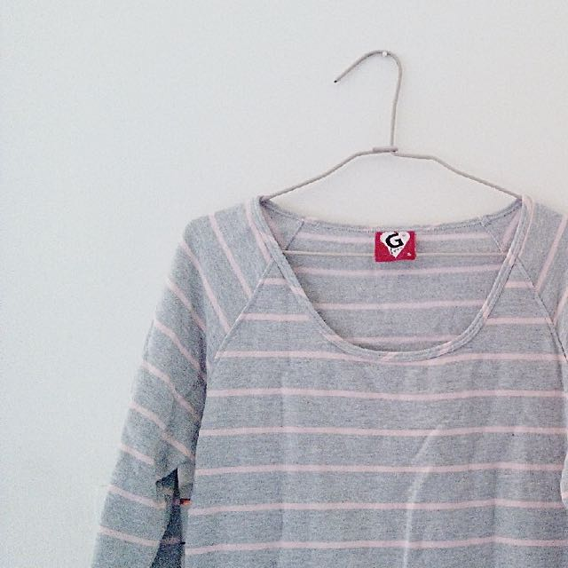 Galoop 灰色條紋厚長袖