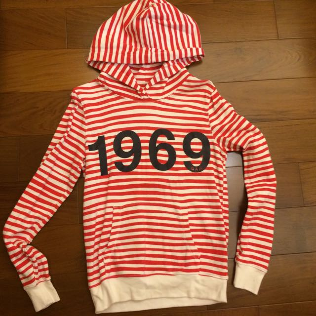 gap1969紅白條紋帽踢